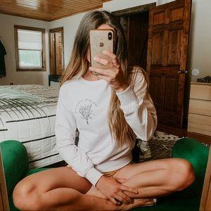 NWT Wildfox Keep Going Keep Growing Sweatshirt